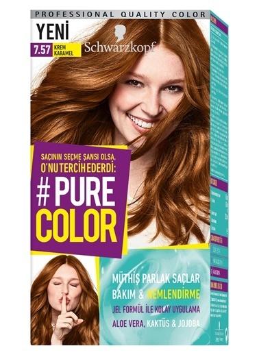 Pure Schwarzkopf Pure Color Saç Boyası 7.57 Krem Karamel Kahve